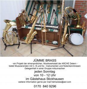 JÜMME BRASS - jeden Sonntag ein Musikworkshop @ Gästehaus Stickhausen